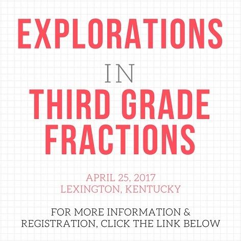 Explorations in third grade factions, April 25, Lexington